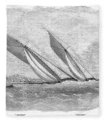 Yacht Race, 1854 Fleece Blanket
