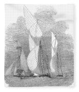 Yacht Race, 1855 Fleece Blanket