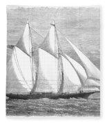 Yacht: Sappho, 1868 Fleece Blanket