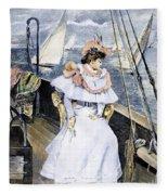 Yachting Costume, 1894 Fleece Blanket