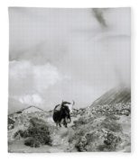 Yak In The Himalaya Fleece Blanket