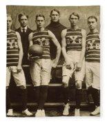 Yale Basketball Team, 1901 Fleece Blanket