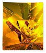 Yellow Abstract Fleece Blanket