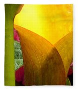 Yellow Abstract Fleece Blanket