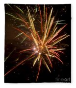 Yellow And Red Fireworks Fleece Blanket