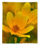 Yellow Blaze Fleece Blanket