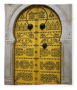 Yellow Door In Bardo Fleece Blanket