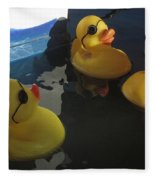 Yellow Rubber Duckies  Fleece Blanket