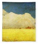 Yellow Field Fleece Blanket