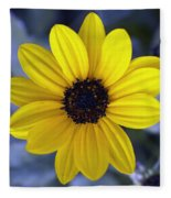 Yellow Flower 4 Fleece Blanket