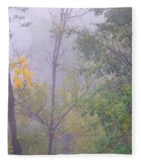 Yellow In The Fog Fleece Blanket