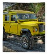 Yellow Jeep Fleece Blanket