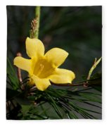 Yellow Jessamine Fleece Blanket