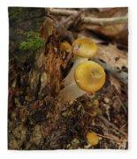 Yellow Mushrooms Fleece Blanket