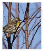 Yellow-rumped Warbler - Placid Fleece Blanket