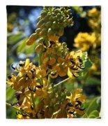 Yellow Senna Fleece Blanket