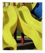 Yellow Slides Fleece Blanket