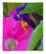 Yellow Spider Fleece Blanket