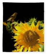 Yellow Sunflowers Fleece Blanket