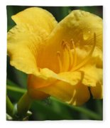 Yellow Tiger Lily Fleece Blanket