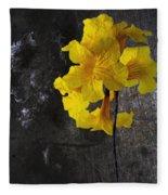 Yellow Trumpet Fleece Blanket