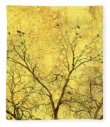 Yellow Wall Fleece Blanket
