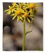 Yellow Wildflower At Crater Lake Fleece Blanket