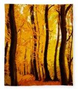 Yellow Wood Fleece Blanket