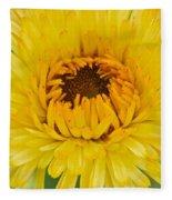 Yellow Zinnia 9494 4286 Fleece Blanket