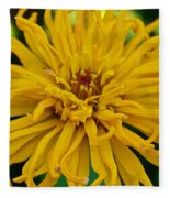Yellow Zinnia_9480_4272 Fleece Blanket