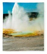 Yellowstone Geysers Fleece Blanket