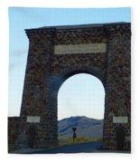 Yellowstone Roosevelt Arch Fleece Blanket