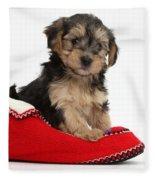 Yorkipoo Pup Fleece Blanket