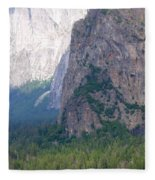 Yosemite Bridal Veil Fall Fleece Blanket