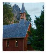 Yosemite Chapel Fleece Blanket
