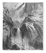 Yosemite Falls, 1874 Fleece Blanket