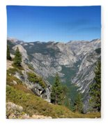 Yosemite Half Dome Fleece Blanket
