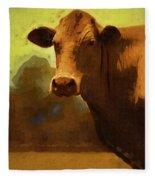 You Can Not Cow Me Fleece Blanket