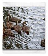 Young Geese Fleece Blanket