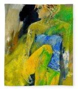 Young Girl 572180 Fleece Blanket