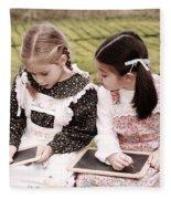 Young Girls Doodling Fleece Blanket