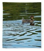 Young Male Garganey Fleece Blanket