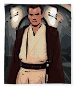 Young Obi Wan Kenobi Fleece Blanket