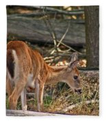 Young Whitetail Fleece Blanket