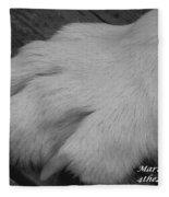 Young Wolf Paw Fleece Blanket