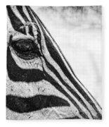 You've Got Zebra Eyes Fleece Blanket