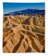 Zabriskie Point Badlands Fleece Blanket