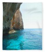 Zakynthos Blue Caves Fleece Blanket