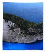 Zakynthos  Crocodile Island Greece Fleece Blanket