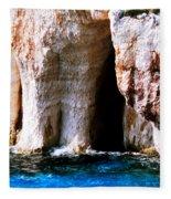 Zakynthos Grotte Greece Fleece Blanket